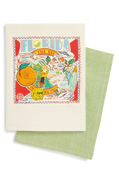 Primitives by Kathy, set of 2 state dishtowels, Nordstrom, $30