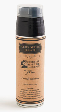 Rochester Shoe Tree Company for J.Crew suede and nubuck cleaner, $8