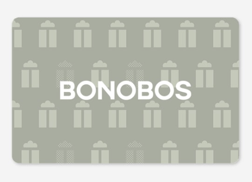 Bonobos digital gift card, $25+