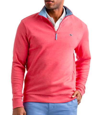 Vineyard Vines cotton jersey 1/4 zip pullover, Vineyard Vines, $98.50