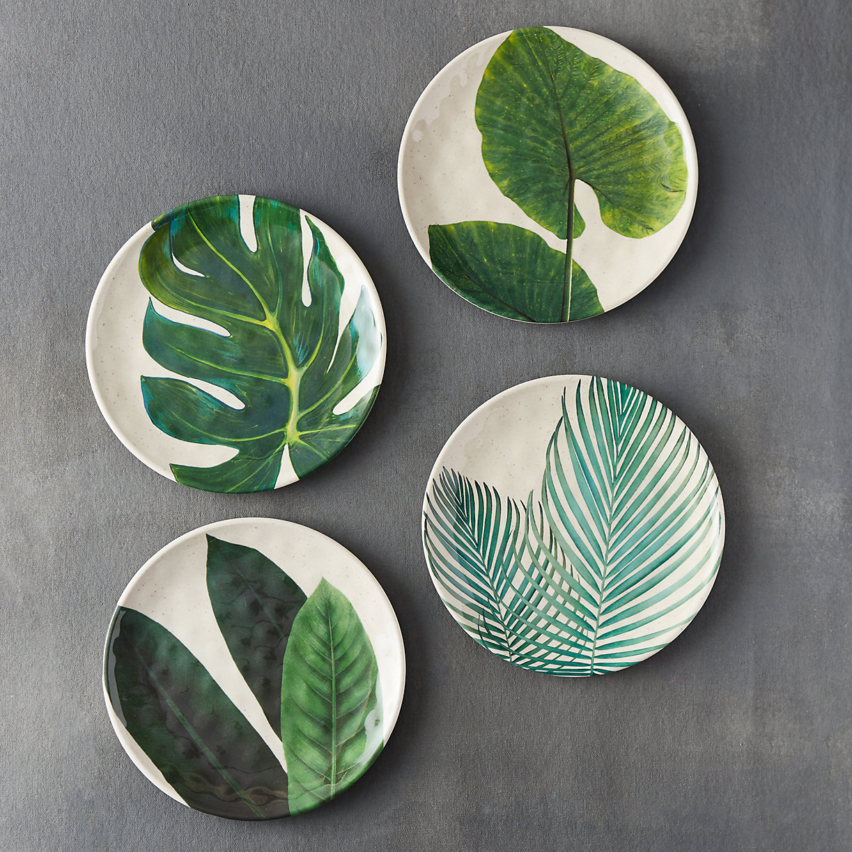 Tropical Foliage Plates
