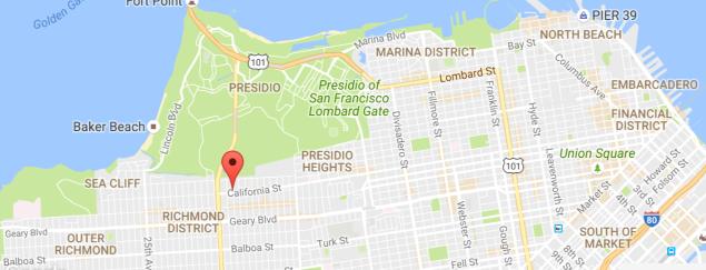 San Francisco free clinic, 4900 California Street