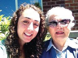 Alyse Lichtenstein and grandmother, Irene Wolf*  *Taken from The Jewish Advocate