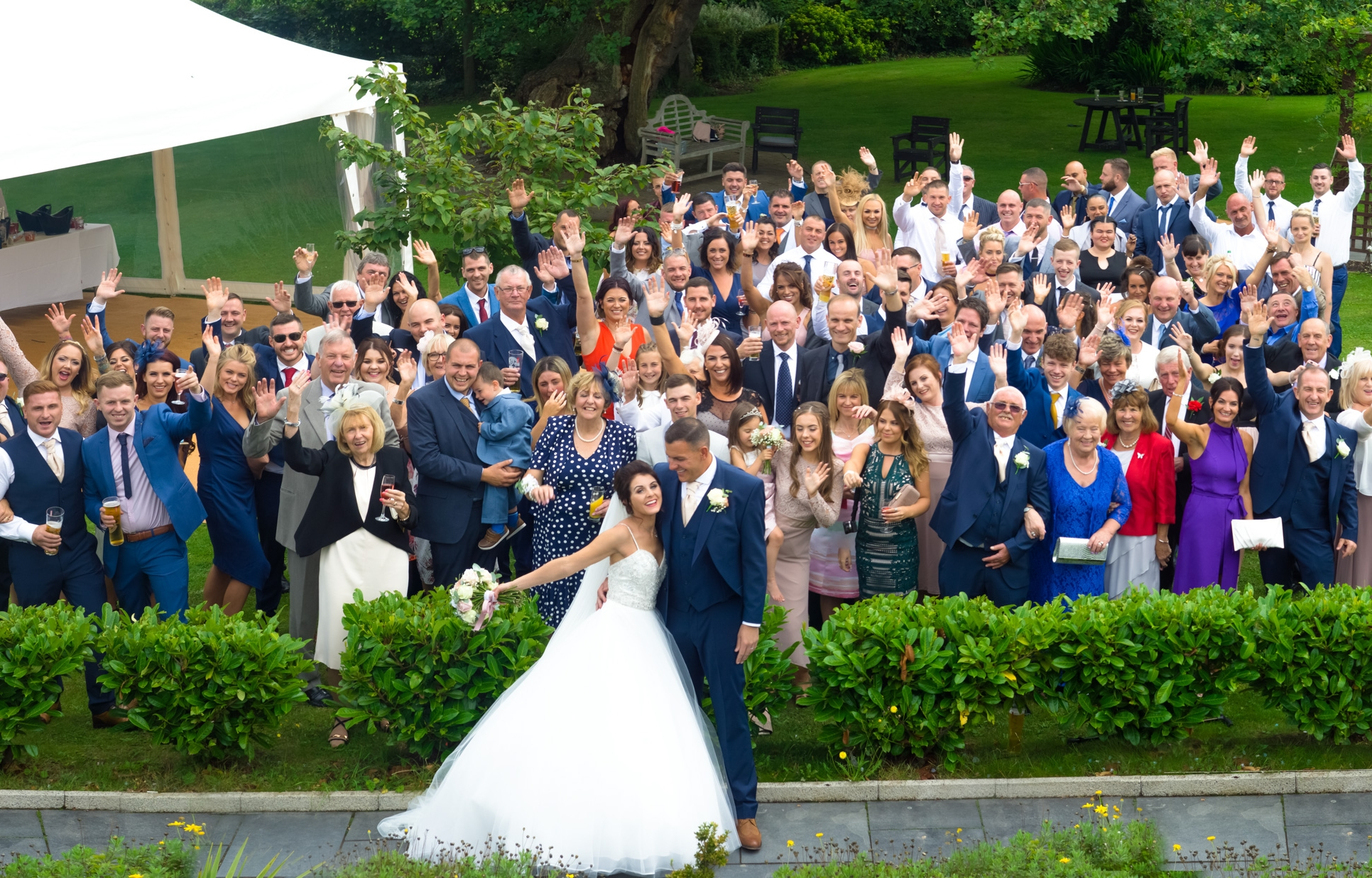 Christian and Rebecca's wedding, at the Kinmel in Abergele