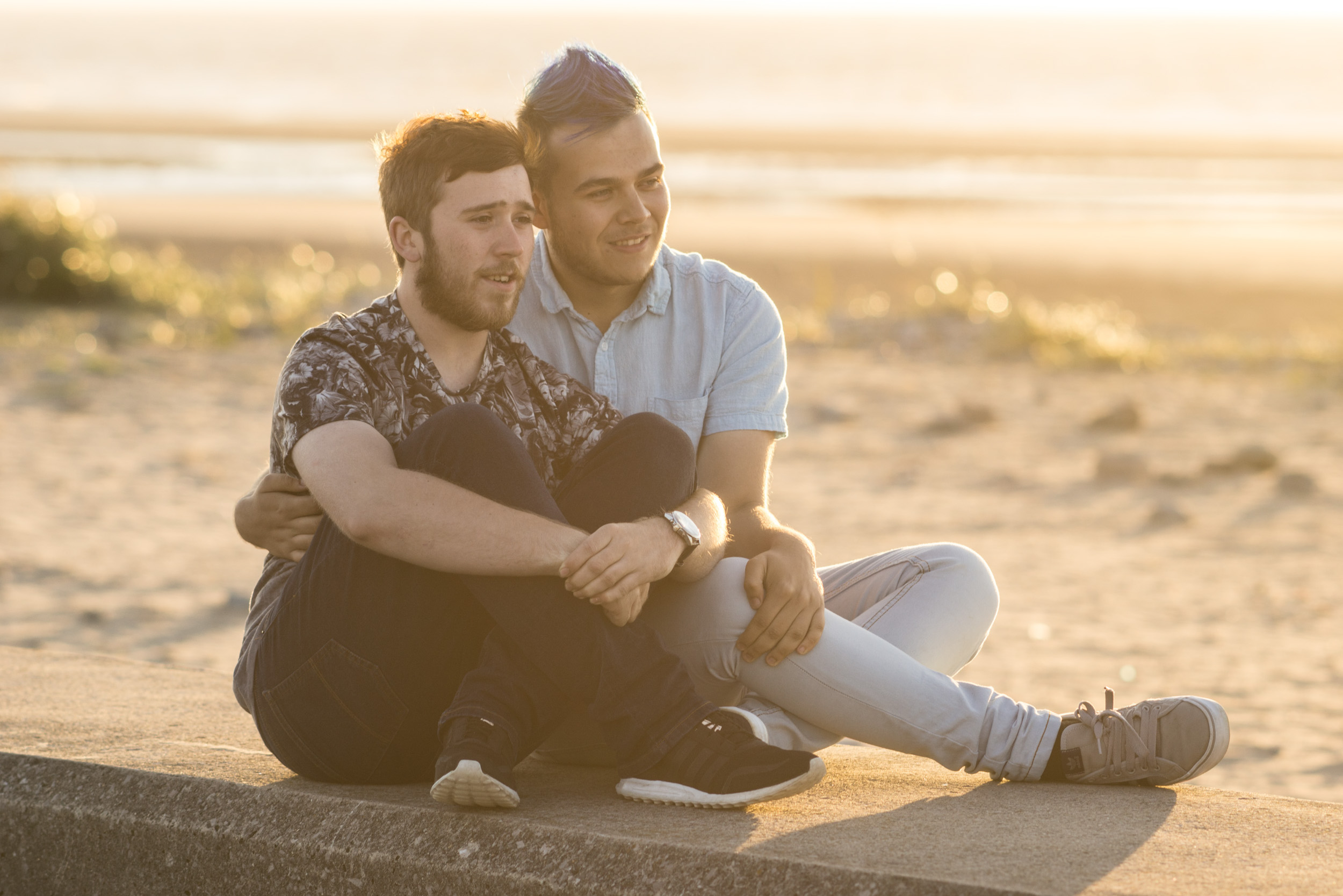 Ash & Josh, couples beach shoot in North Wales
