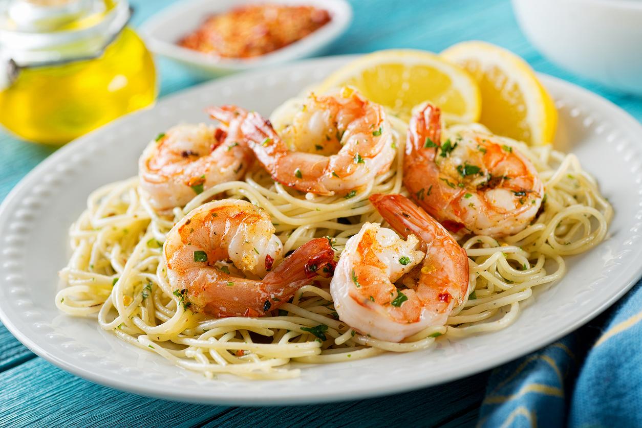 SimpleMD Mediterranean Diet Shrimp Scampi