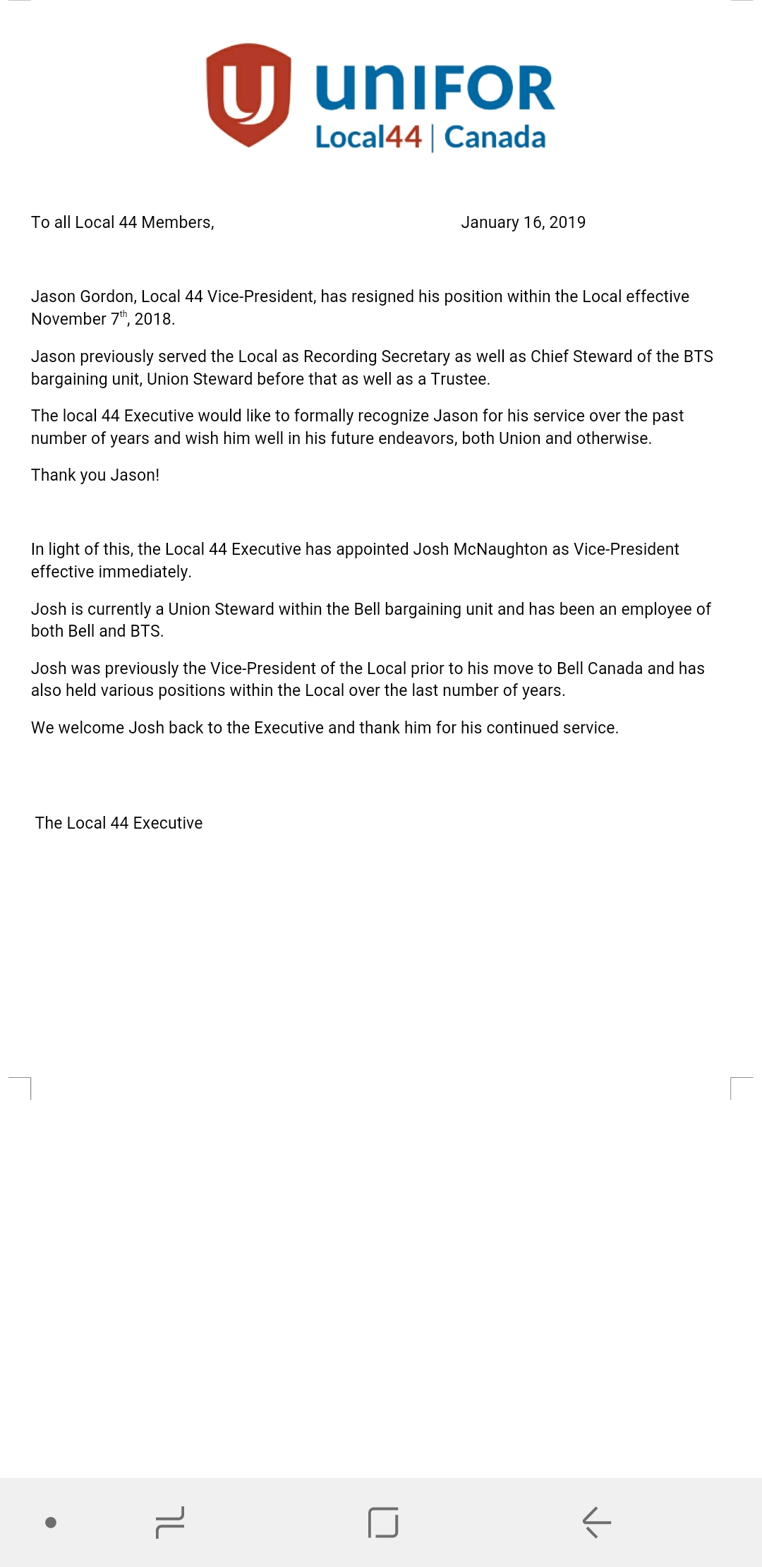 Letter to Members;  Gordon and McNaughton.jpg