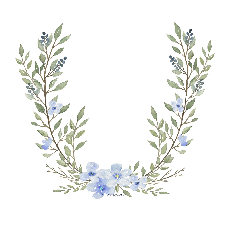 Blue Laurel Motif.png