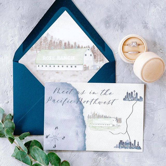 When you're asked to incorporate the venue into invitations. Watercolor map and envelope liner it is! 👌🏼😍 • • • • #watercolor #weddingstationery #stationerydesign #customweddingstationery #weddingstationerydesigner #weddingdetails #weddinginvites #weddinginviteinspiration #weddingplanningtime  #venueillustration  #weddingvenue  #weddinginspiration #weddinginvites #destinationweddings #destinationbride #engaged💍 #engagedlife #engaged #futuremrs #futurewife #futuremrandmrs #huffpostido #weddingidea #weddingideas #weddingvendor #weddingplanner #weddingplanning #weddingplanningbegins #watercolour #weddingmap