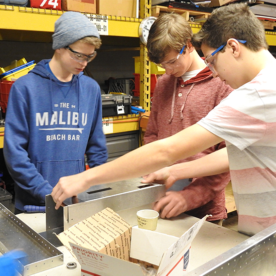 Build Team   The Build team works to construct prototypes and build the actual robot for the competitions.