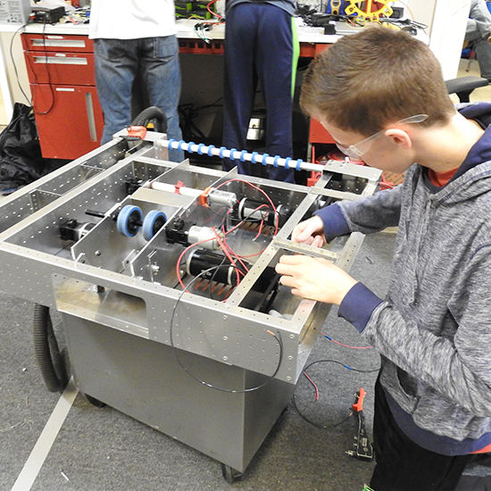 Electrical   The electrical team is in charge of wiring the robot.