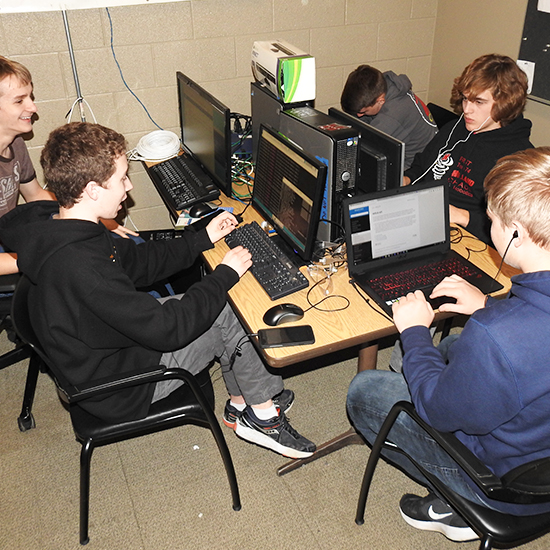 Programming   The programming team works on writing autonomous code and getting the robot to move without manual intervention.