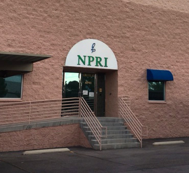 Exterior of O2P NPRI headquarters in Las Vegas, Nevada