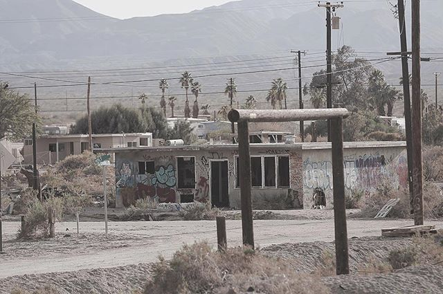 Spirit Retrieved, photography series (17) / USA, 2016.  A project that brings a new perspective on landscape photography bringing expression of the space through enactment of the actor who filtered the aura of the abandoned city (Salton City) and expressed it with his performance. As a result he melts into the desolate landscape bringing to it a voice and a new touch of life.