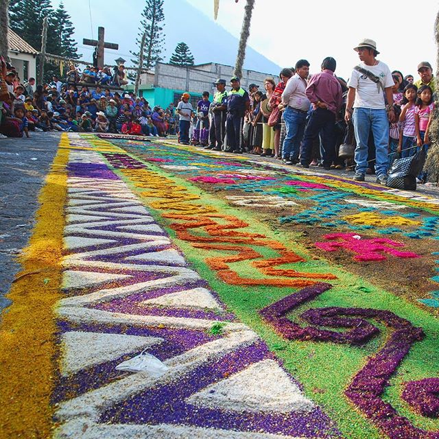 The streets fill with colorful carpets of personal sacrifice made from flowers this time of year!