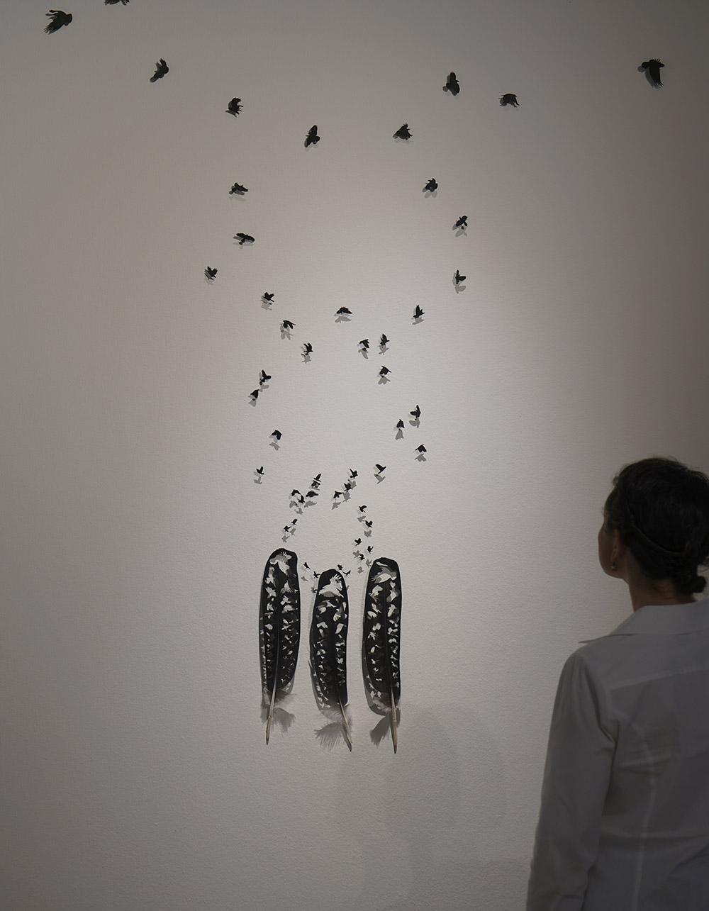 Raven Spiral Installation