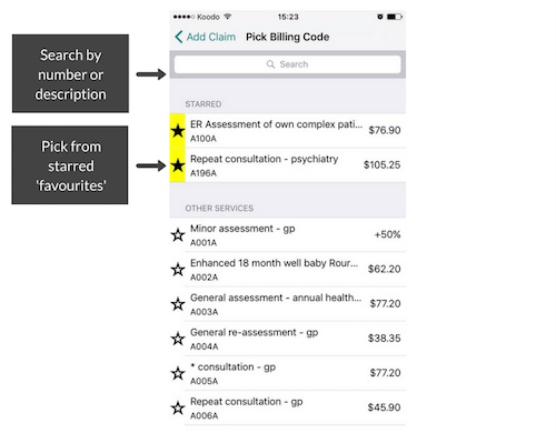 Mobile Billing App - How to Add a Claim 2.png