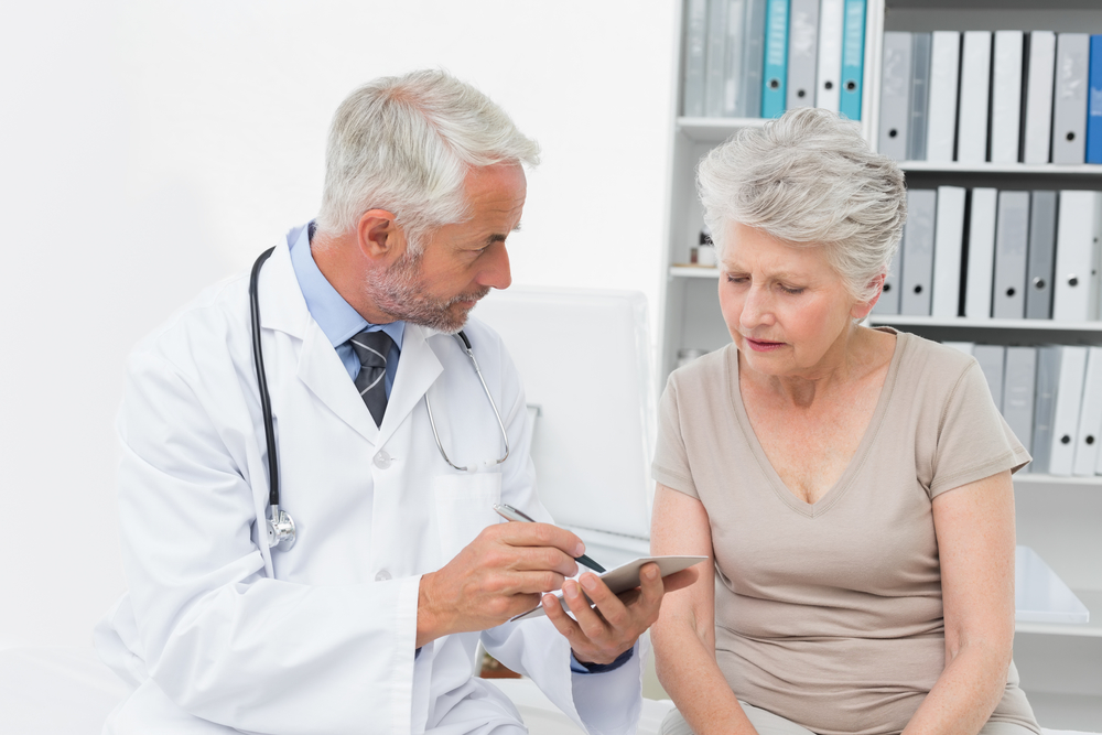 Female senior patient visiting a doctor