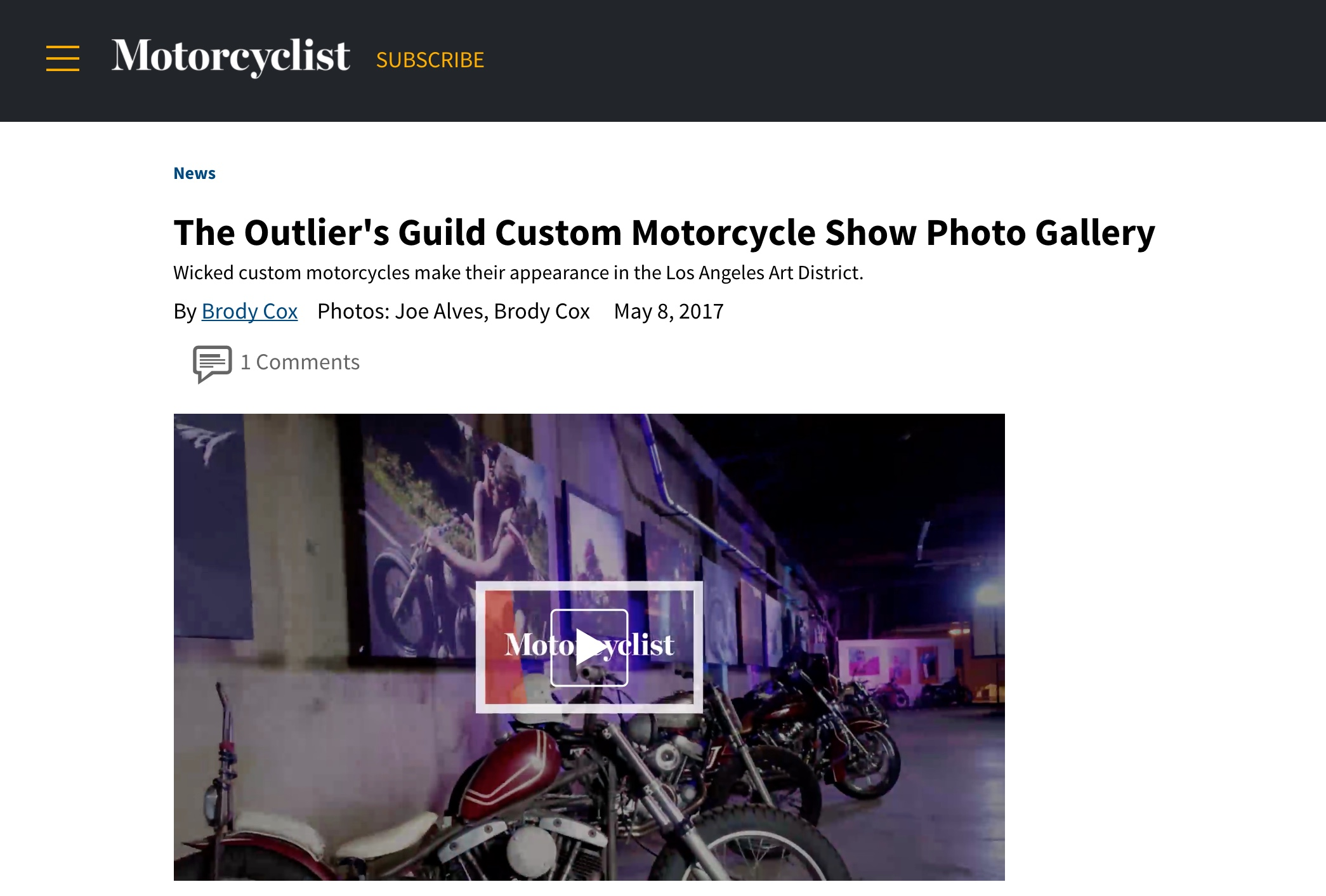 Event coverage from Motorcyclist Online