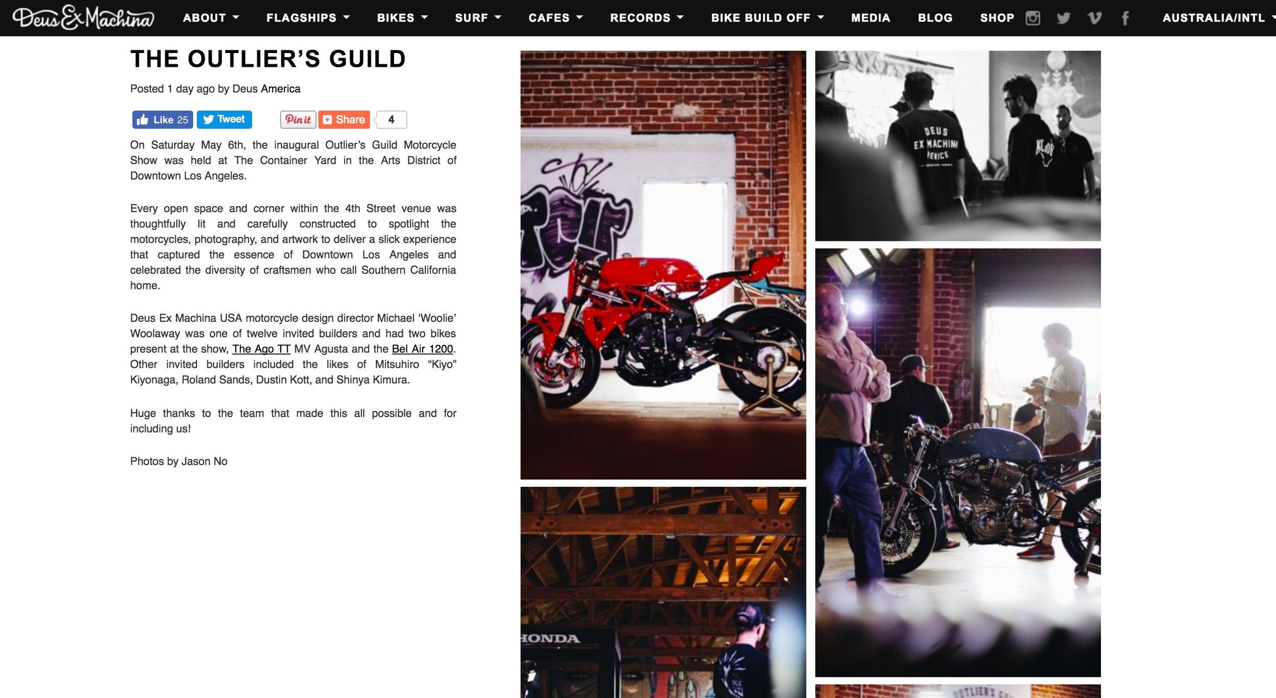Event Coverage on the Deus ex Machina Website