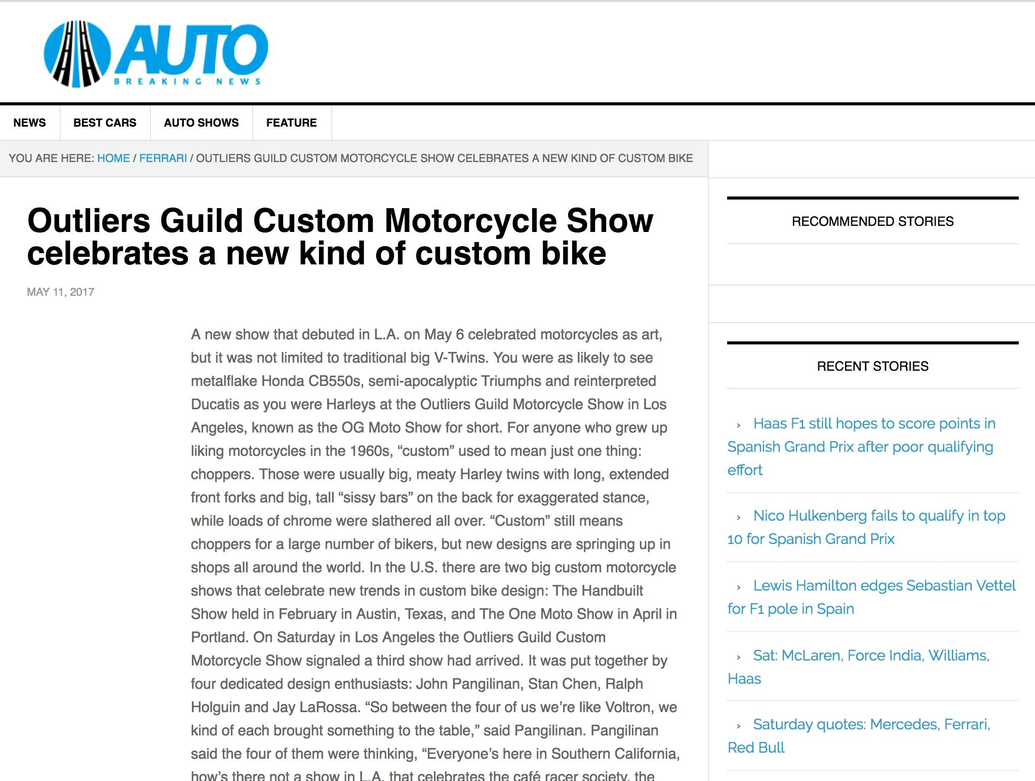 Article on Autobreaking News