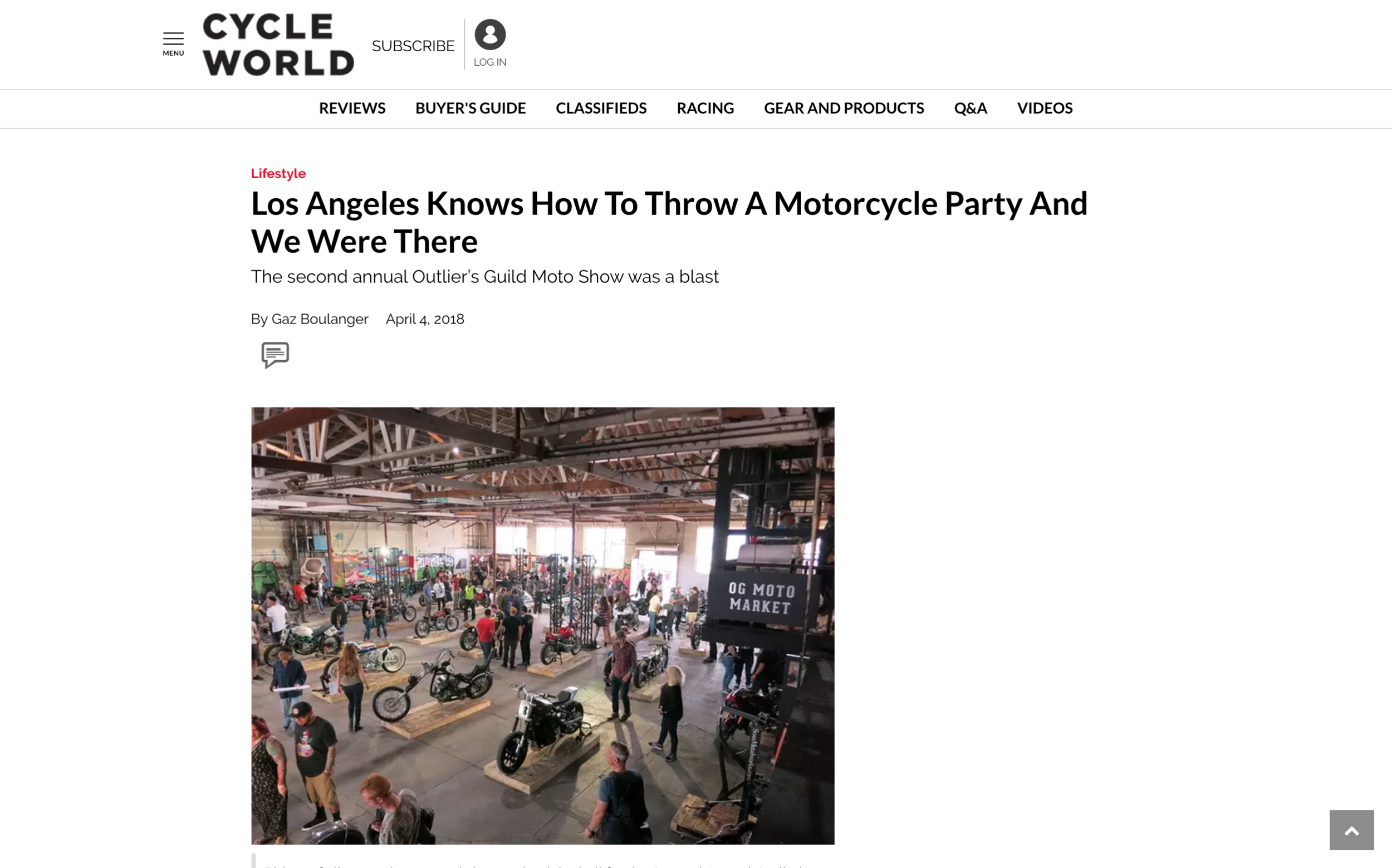 Featured in Cycle World