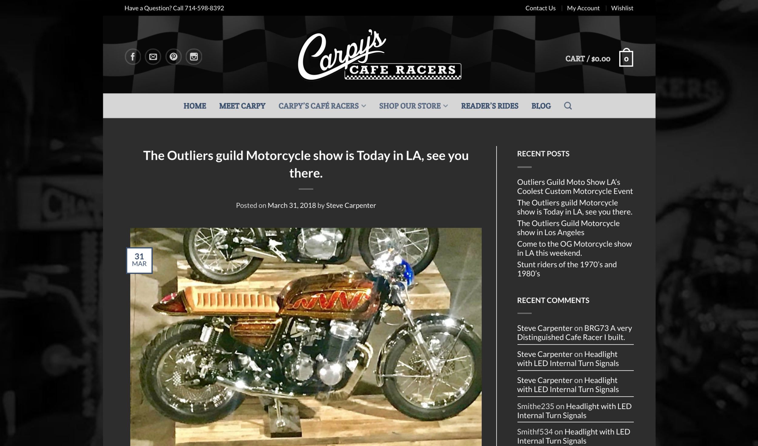 Featured on Carpy's Cafe Racers