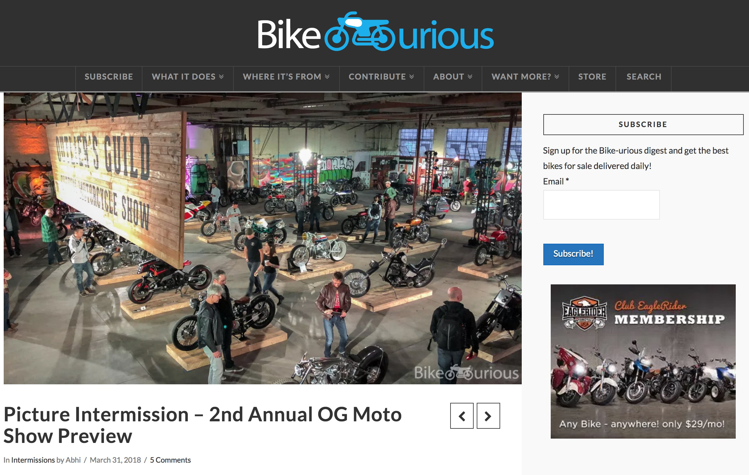 Featured on Bike-urious