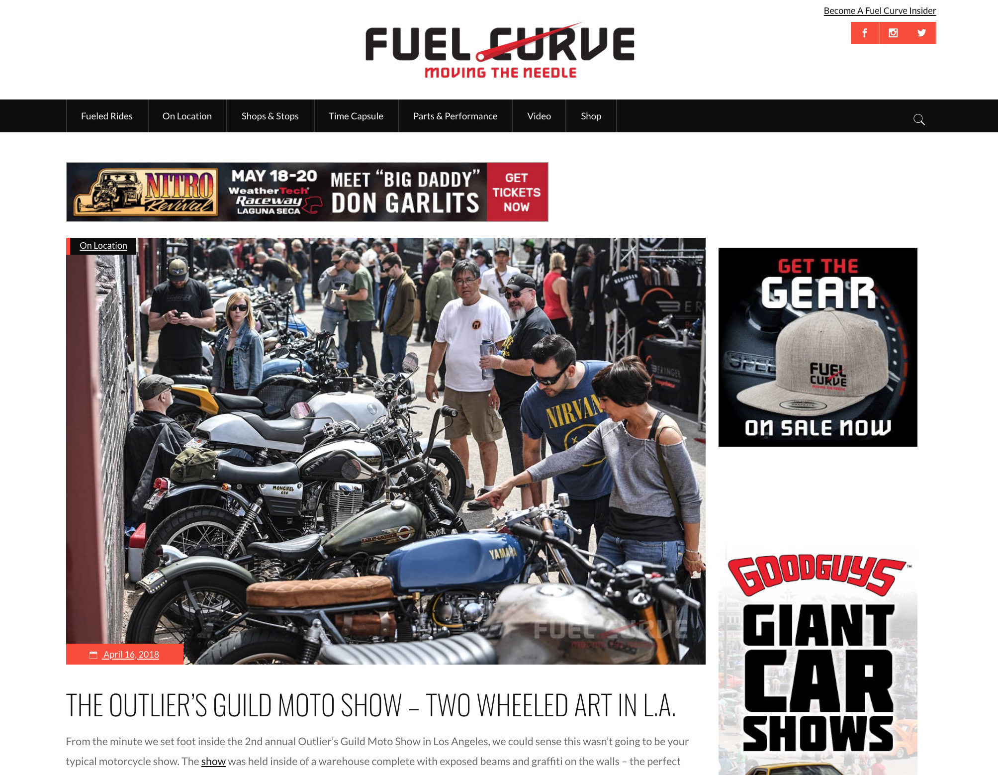 Featured on FuelCurve
