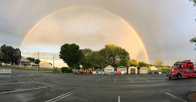 A double rainbow at the end of a really fun evening