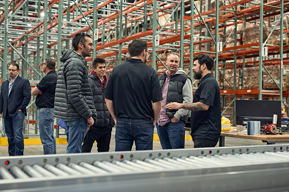 Attendees enjoying facility tours with the Symbia team