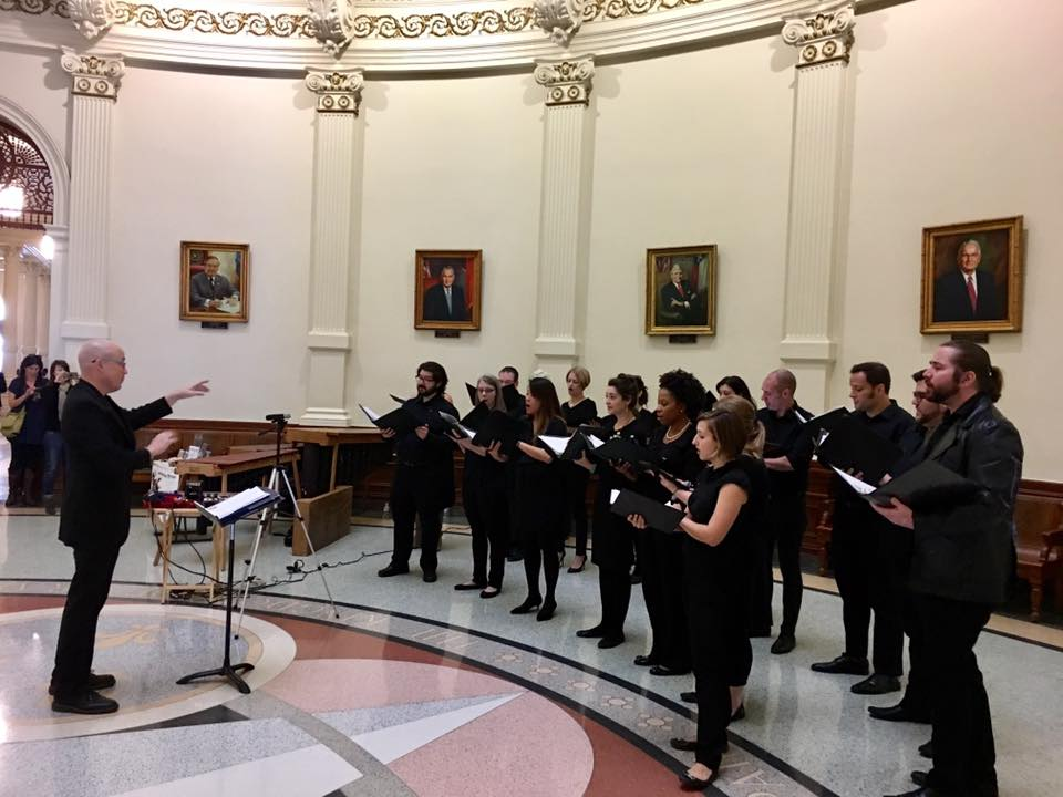 Panoramic Voices performs at the Texas Capitol