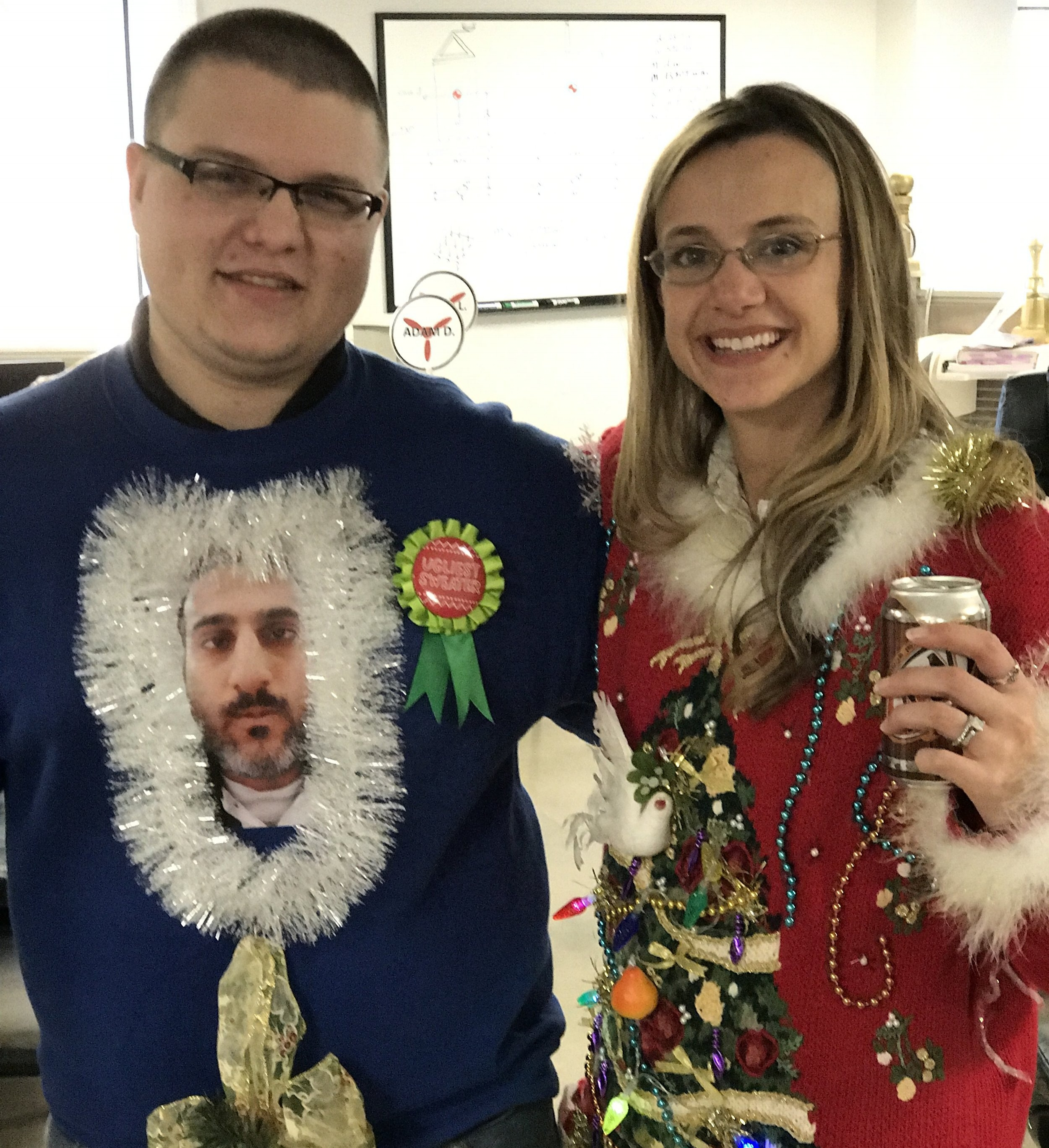 Winner of Ugly Christmas Sweater Contest !
