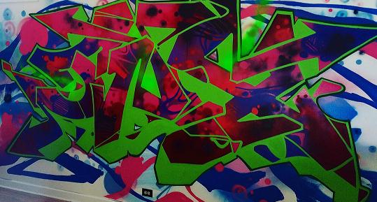 graffiti art installation at homiey