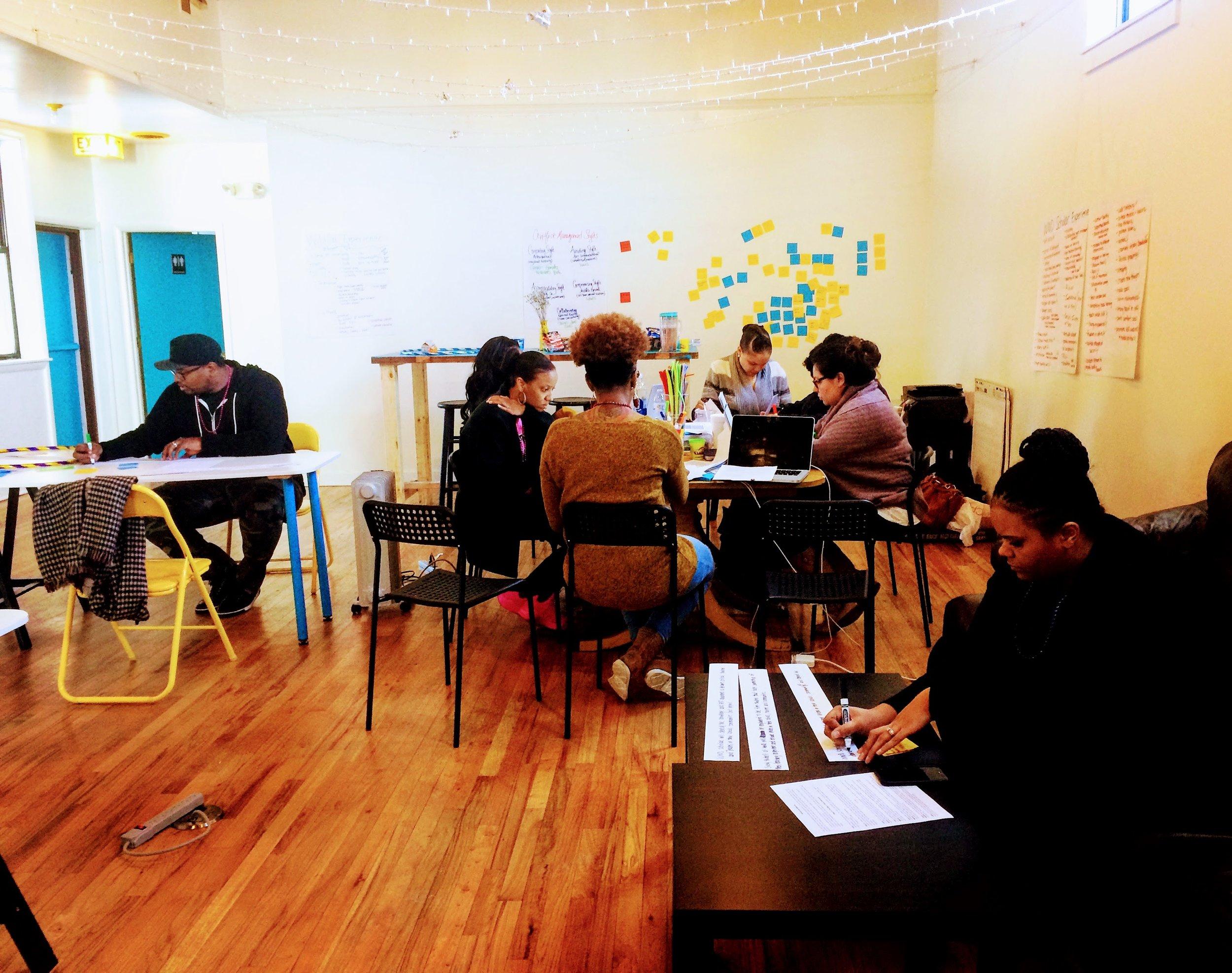 coworking, open work space, meeting space
