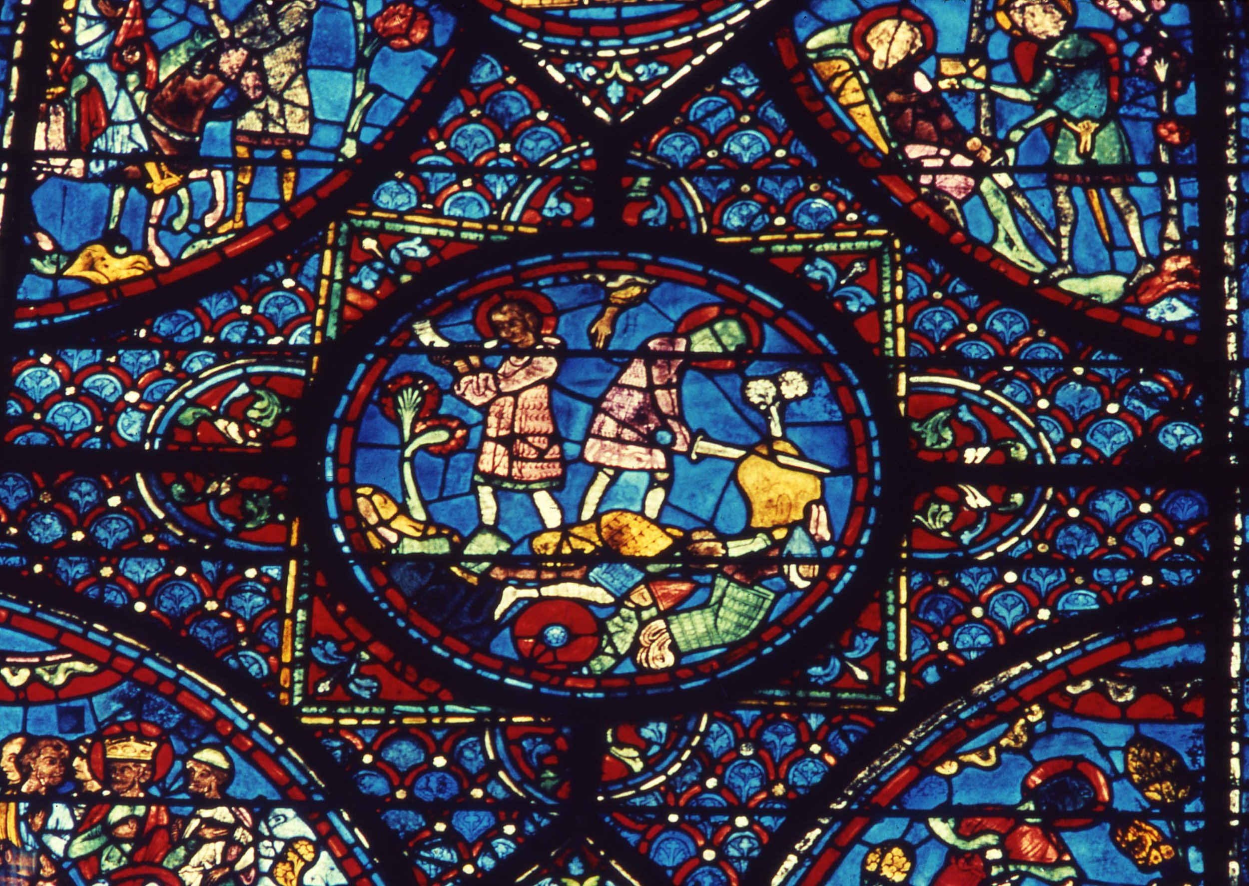 Chartres window detail