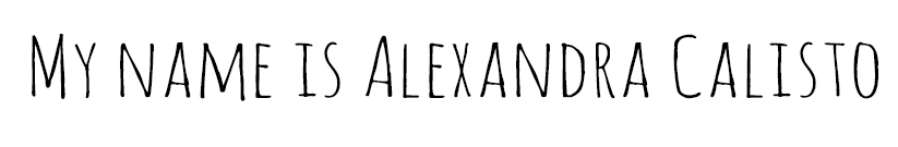 my name is Alexandra Calisto
