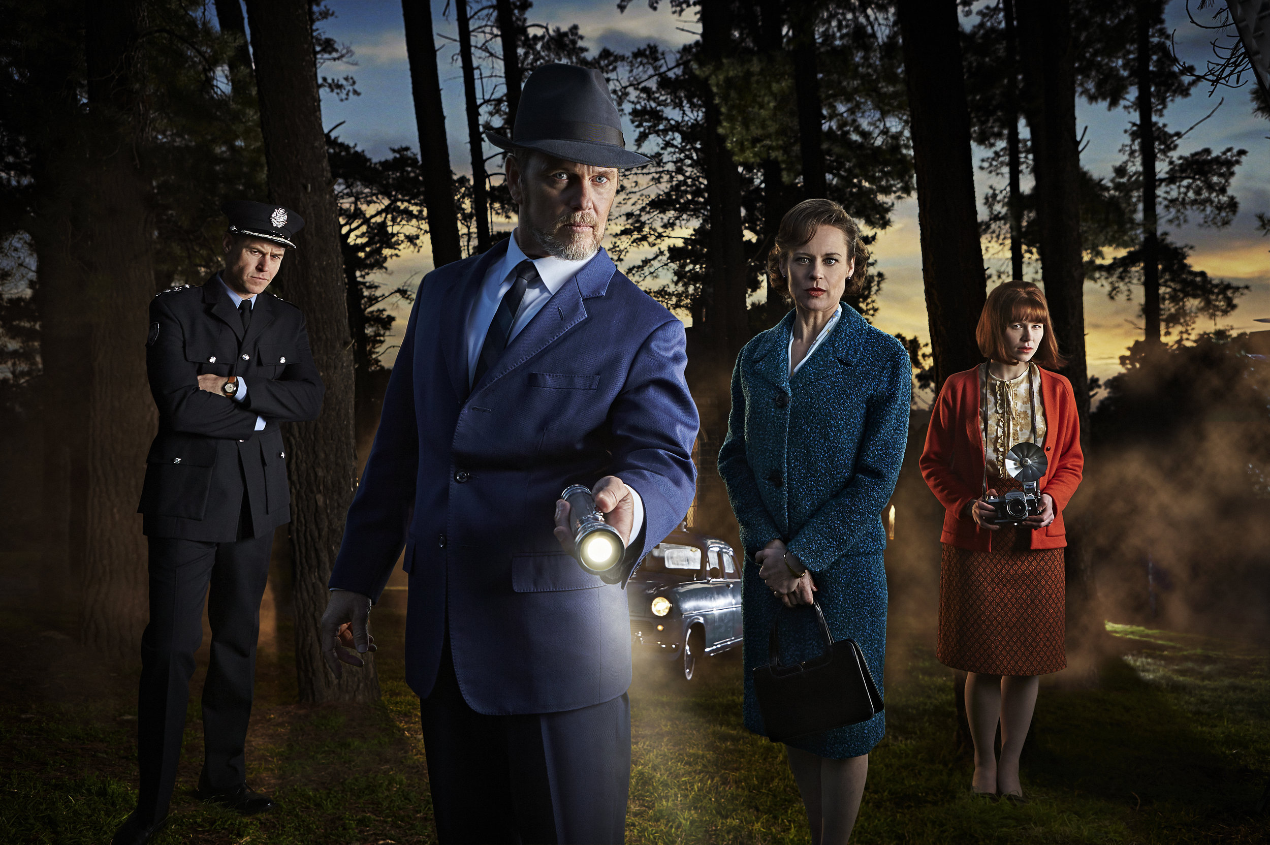 KEYART_DRBLAKE_S4_Hor1_2015.jpgL-R Chief Superintendent Frank Carlyle (Rodger Corser), Dr Lucien Blake (Craig McLachlan), Jean Beazely (Nadine Garner) and Rose Anderson (Anna McGahan).jpg