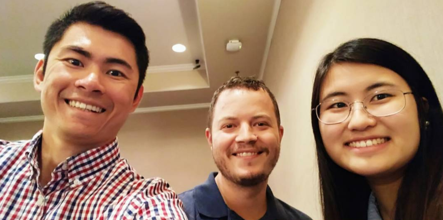 Left to Right:  Mark Wangwiwattana ( Faculty at University of the Thai Chamber of Commerce),  Eric Larson ( Faculty at Southern Methodist University),  Jasmine Kim  (MS EDI 18' Northwestern University)