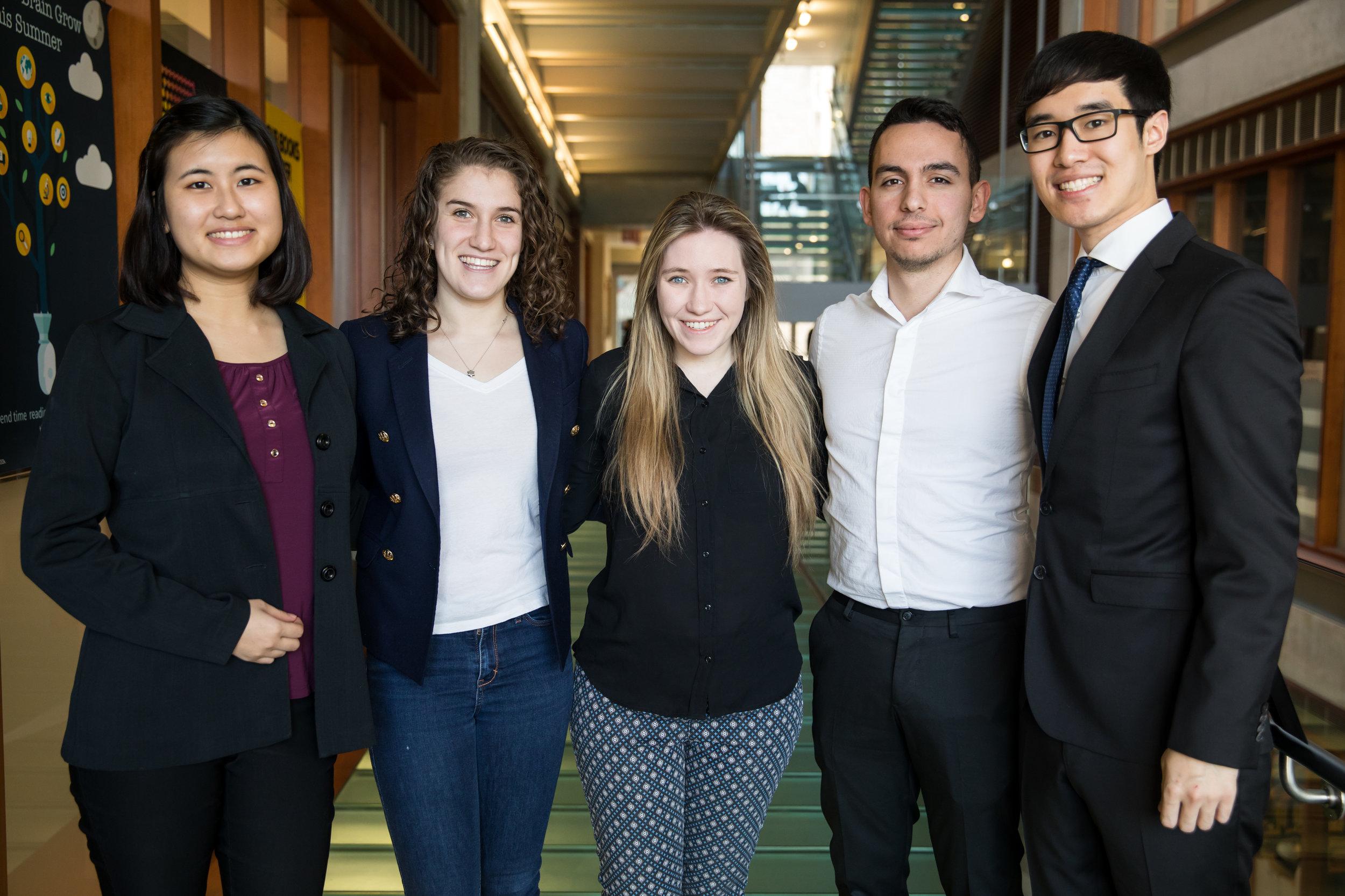 Left to Right : Jasmine Kim, Beth Lester, Anna O'Donnell, Mert Pekdemir, Joshua Kim (EDI '18)