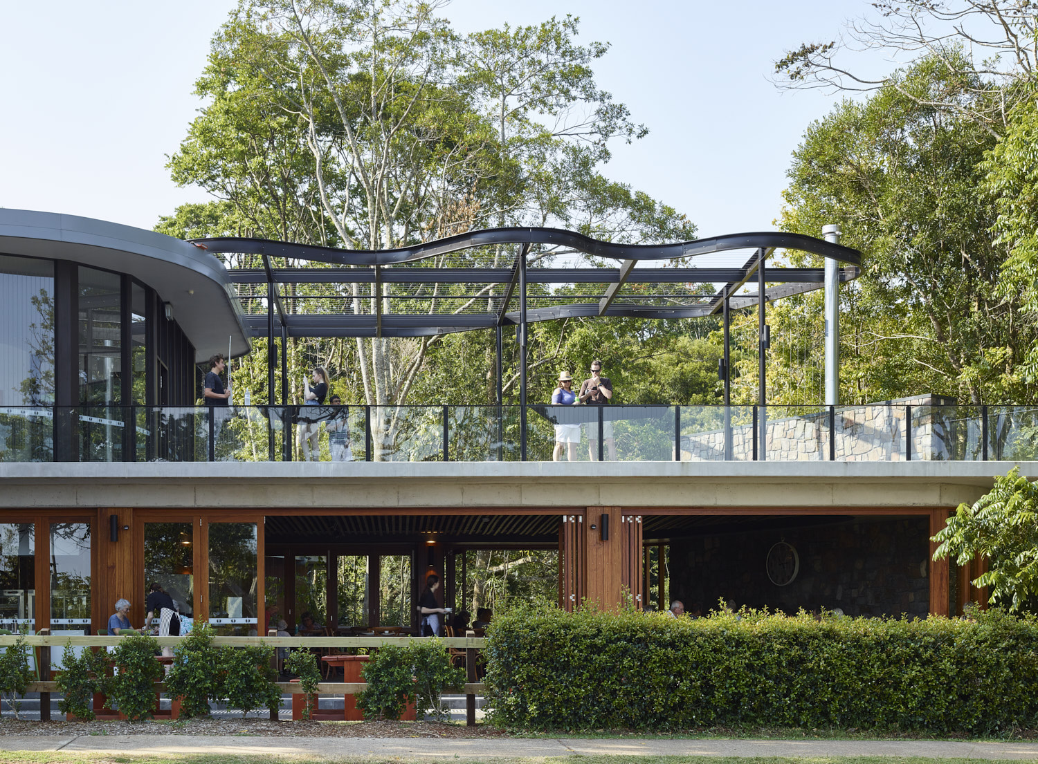 Mary Cairncross Scenic Reserve Cafe (lower level), and viewing deck (upper level)