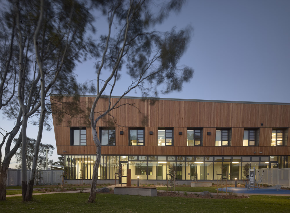 Programs Building at Rivergum.  Photography by Scott Burrows Photography.