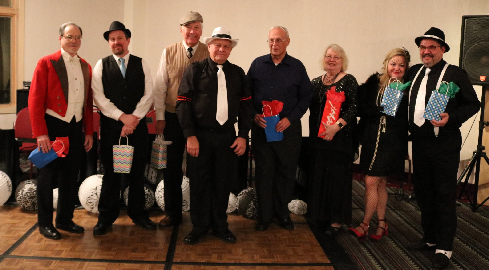 Commodore George Harizal thanked 2017 Bridge, Trustees, and Staff Officers. Left to Right: Rear Commodore -Harvey Rickert, Vice Commodore - Don Petsch, Trustee - Tim Kemerley, George Harizal, Trustee - Jim Hearst, Secretary - Janice Hearst, Trustee - Sandy Biesenberger, Trustee - Russ Marcks (Not Pictured: Past Commodore Jan Holmes and Treasurer Margo Holmes)