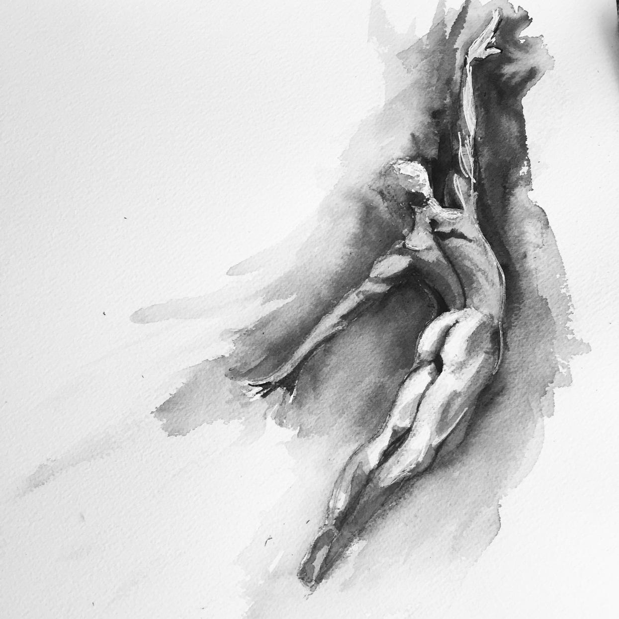 Dancer #5 watercolor on paper