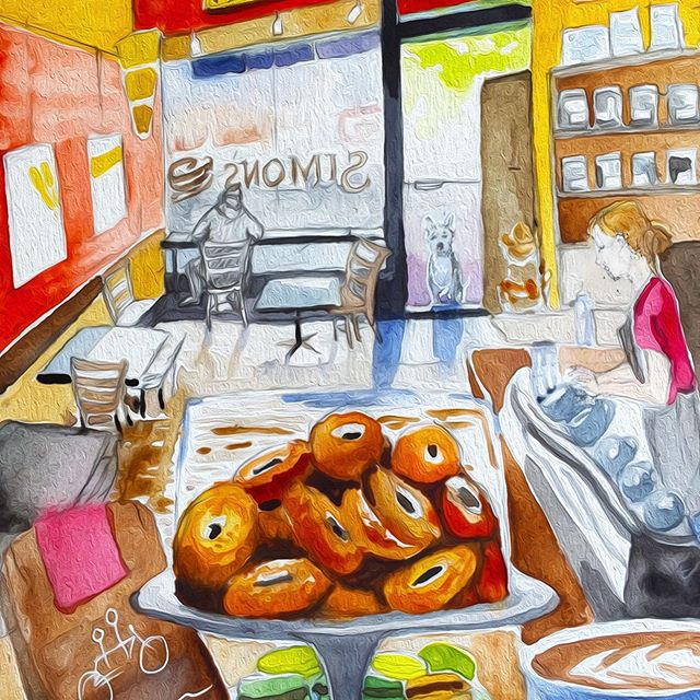 Another partial image for the #cafecalendar #watercolor #digitalfilter #illustrationart #illustrationartists #painteveryday