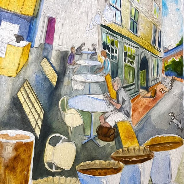 Another cafe for the postcard calendar #cafesketch #illustrationartists #illustrationartwork #designer