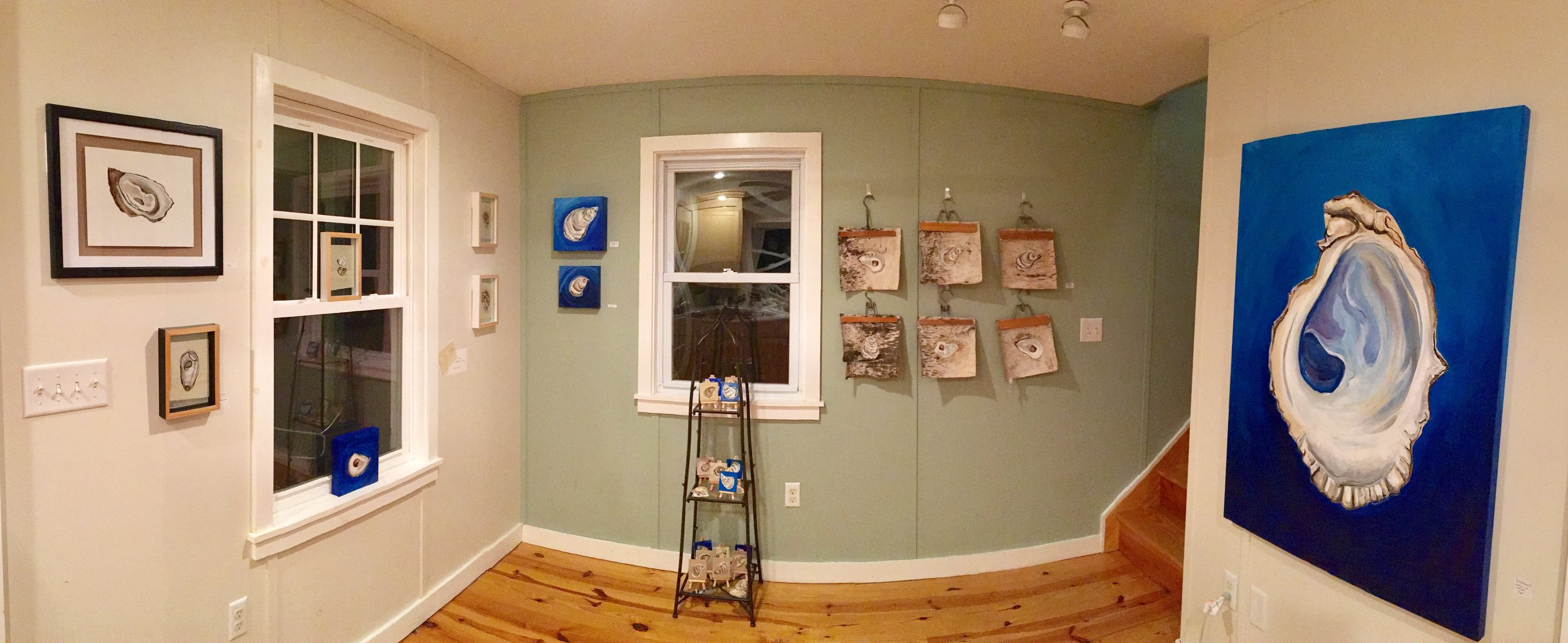 Current collection in my studio's gallery space.