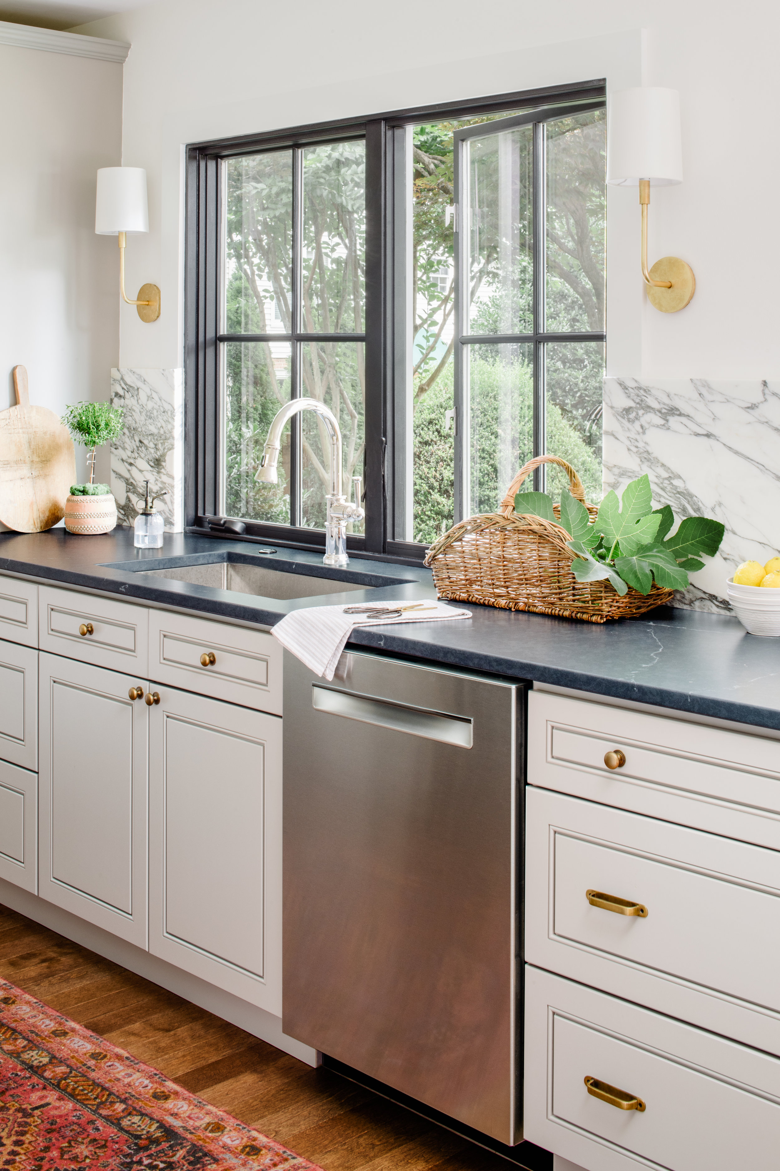 Galley kitchen by Alison Giese Interiors