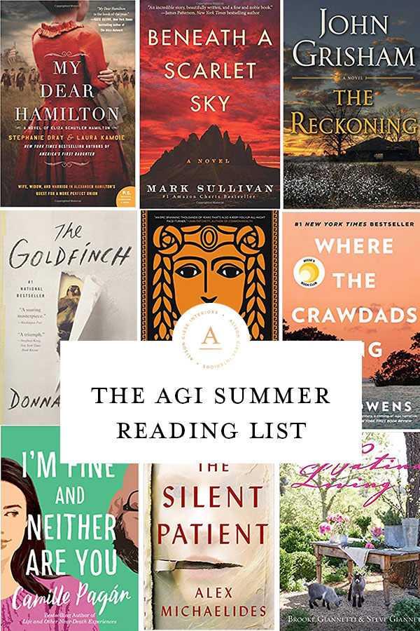 Alison Giese Interiors - Summer Reading List 2019