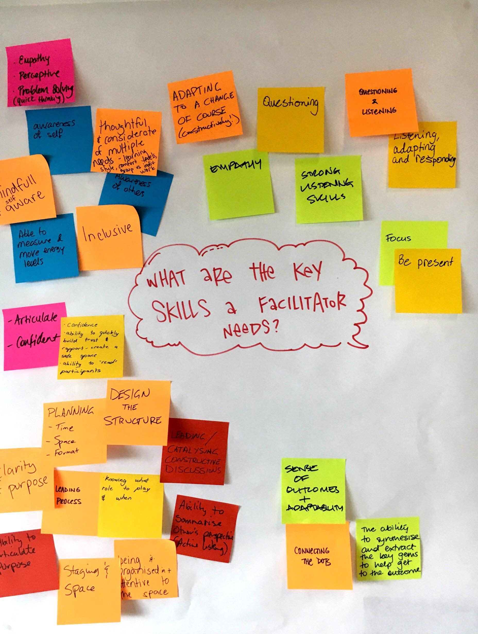 Key skills of the Facilitator?